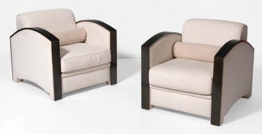 Paire de fauteuils modèle 40FT von Hugues Chevalier auf artnet