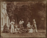 the fruit sellers, lacock abbey, ca.1845 by william henry fox talbot