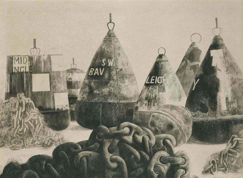 buoys and chains, harwich by reginald brill