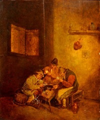 les joueurs de cartes by david teniers the elder