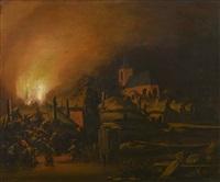 incendie d'une ferme by egbert lievensz van der poel