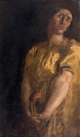 étude de femme study by théodore chassériau