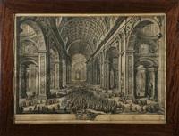 piazza san pietro e interno della basilica by giuseppe vasi