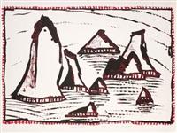 les aiguilles de belle-île by pierre alechinsky