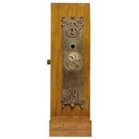 set of door plates and door knobs from the wainwright building, st. louis, missouri by dankmar adler