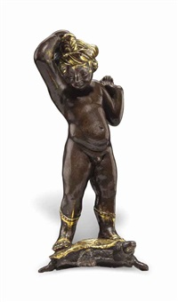 a putto standing on a tortoise by donatello