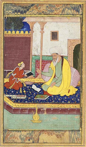 a lesson with a mullah by anonymous indian mughal 16