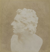 bust of patroclus (the pencil of nature) by william henry fox talbot
