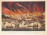 the great fire at chicago, octr. 8th by currier & ives (publishers)