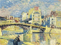 la marne et le pont de fer à lagny by maximilien luce