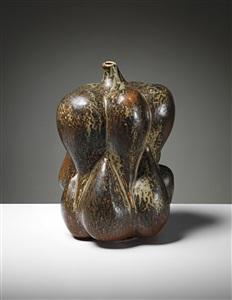 large fruit form vase by axel johann salto