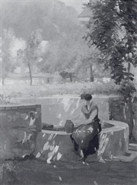woman at a well by karl anderson