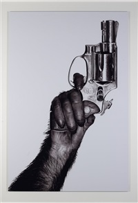 monkey with gun, new york city by albert watson