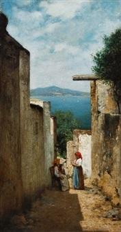 motiv aus anacapri (blick auf ischia) by curt agthe