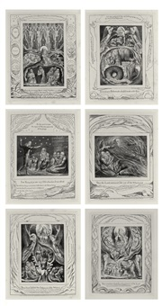 illustrations of the book of job (22 works) by william blake