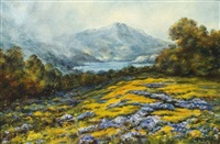 haydock, mt. tamalpais with poppies and lupine by william franklin jackson