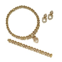 three-piece jewelry suite by asprey & garrard