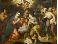 the adoration of the shepherds by hans von aachen