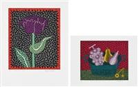 tulipe (ⅰ), painer de fruits (ⅱ) by yayoi kusama