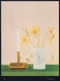 daffodils & candlesticks by craigie aitchison