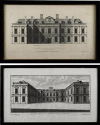 althorp in north hamptonshire, after c. campbell (+ 13 others; 14 works) by hendrick hulsbergh