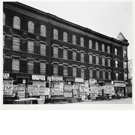 4th avenue brooklyn billboards by berenice abbott