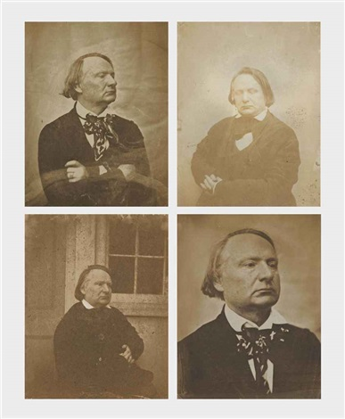 portraits de victor hugo jersey 4 works by charles hugo and auguste vacquerie