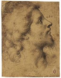 head of a young man in profile by giuliano bugiardini