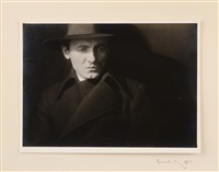 a portrait of a man by josef sudek