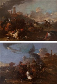 choc de cavalerie (pair) by august querfurt