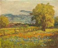 poppies and lupine, santa clara valley by william adam