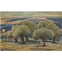 olive trees, mytilini by konstantinos maleas
