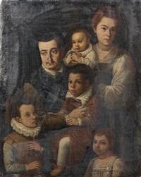 portrait de famille by jacopo (da empoli) chimenti