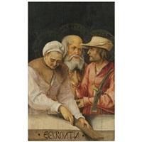 die gekrönten - the roman martyr saints claudius, castorius and simplicius by hans (suess von) kulmbach