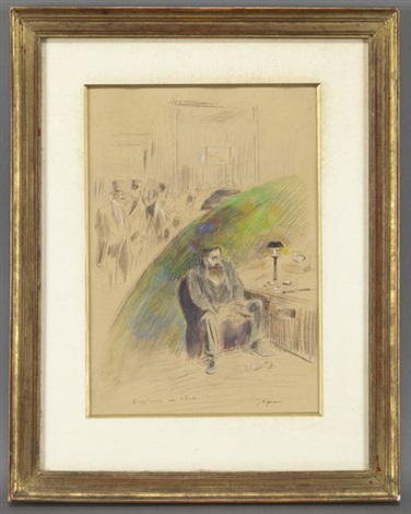 laffichage au club by jean louis forain