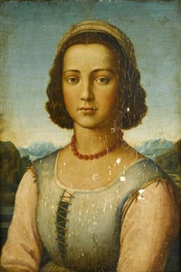 portrait of a young lady (+ portrait of a young man; 2 works) by filippo (filippino) lippi