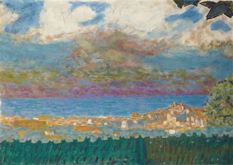 ciel dorage sur cannes by pierre bonnard