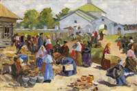 at the market by vyacheslav pavlovich bychkov