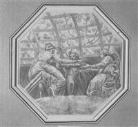 nozze di amore e psiche (giulio romano) by ippolito andreasi