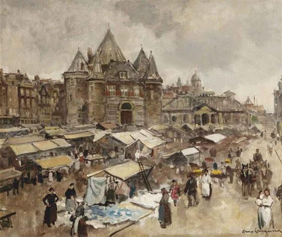 the waag on the nieuwmarkt, amsterdam by frans langeveld