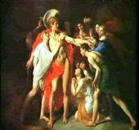 thesee vainquant le minotaure by françois louis dejuinne