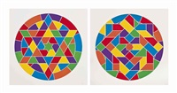 two plates, from: stars by sol lewitt