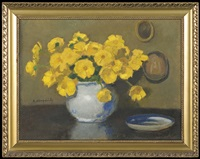 yellow flowers by alfons karpinski