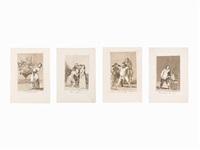 group of 10 etchings, los caprichos by francisco de goya