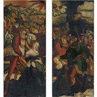 the martyrdom of saint barbara (+ the martyrdom of saint catherine; pair) by danube school (16)