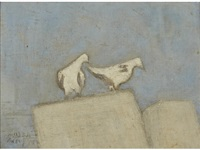 paris pigeons by milton avery
