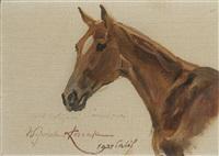 horse head by woiciech (aldabert) ritter von kossak