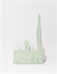 untitled (green) by arturo herrera