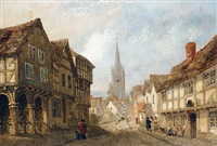 a village street by joseph murray ince