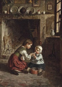 feeding the baby by paul seignac